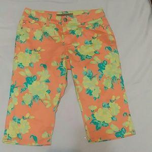 Liverpool Jeans Co Summer Melon Capri Pants Size 6